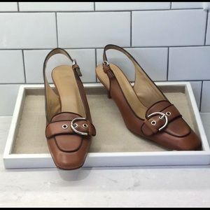 COACH Leather Slingback Shoes